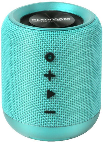 Promate Wireless Speaker, Portable 10W Bluetooth Speaker v4.2 with HD Sound Quality, Built-In Mic, FM Radio, Micro SD Card Slot and Auxiliary Port for Smartphones, Tablets, MP3, Hummer Turquoise