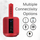 Promate Wireless Speaker, Portable 10W Bluetooth Speaker v4.2 with HD Sound Quality, Built-In Mic, FM Radio, Micro SD Card Slot and Auxiliary Port for Smartphones, Tablets, MP3, Hummer Red