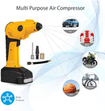 Promate Electronic Air Compressor, Professional Air Pump for Emergency with Built-In 2000mAh Power Bank, USB Port,