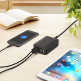 RAVPower Wall Charger with 4 USB ports , Black , RP-PC024