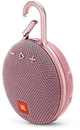 JBL Clip 3 Portable Waterproof Wireless Bluetooth Speaker - Dusty Pink, JBLCLIP3PINK
