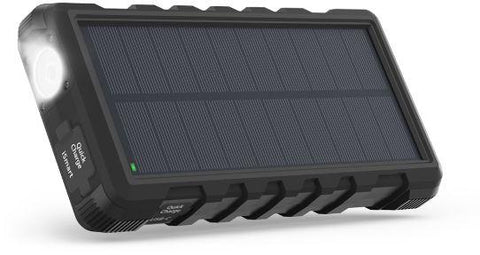 RAVPower Solar Charger 25000mAh Outdoor Portable Charger with Micro USB & USB C Inputs, Quick Charge Solar Power Bank with 3 Outputs