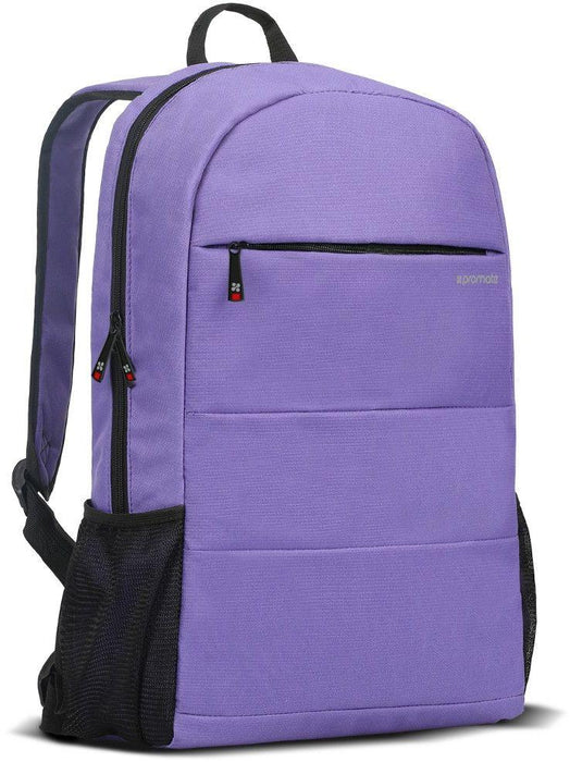 Promate Travel Laptop Backpack for Women, Water-Resistant, Anti-Theft, for 15.6 Inch - Purple