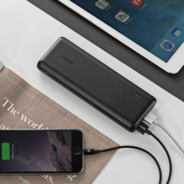 Anker PowerCore 15600 mAh Powerbank with PowerIQ Technology - Black