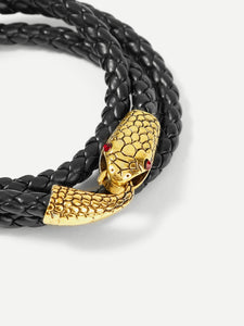 Men Snake Shaped Layered Bracelet