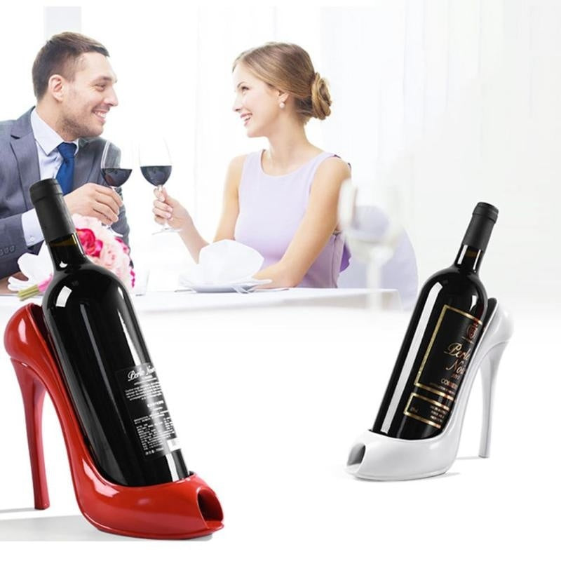 4 colors High Heel Shoe Wine Bottle Holder Wine Rack Practical Sculpture Wine Racks Home Decoration Accessories top quality