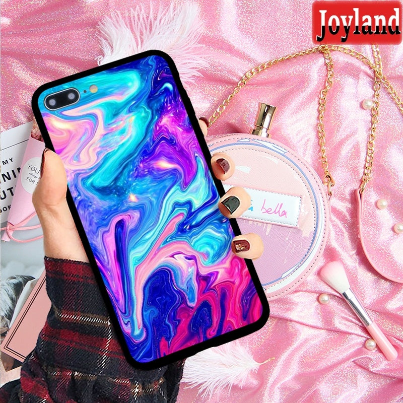 purple and blue mixture colorful painting matte feeling hard phone case for iPhone 5 5s se 6 6s 6plus 6s plus 7 7plus 8 8plus X