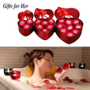 Heart Scented Bath Body Petal Rose Flower Soap Wedding invitations heart shape Decoration Gift for guests U3AHXL2451/e7