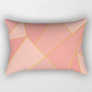 Rose Gold Pink Cushion Cover Square Pillowcase Home Decoration(30cm * 50cm)