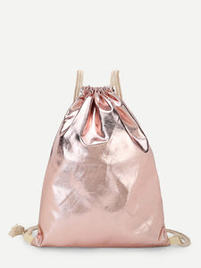 Glitter Drawstring PU Backpack