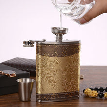 Load image into Gallery viewer, Luxury Stainless Steel Flask Flagon, 8oz