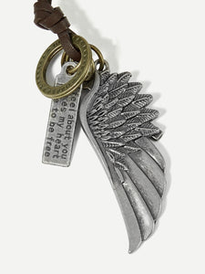 Men Wing Pendant Necklace
