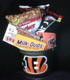 The Cincinnati Bengals or Reds Fan Basket