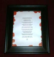 Load image into Gallery viewer, Custom Poetry Gift black frame