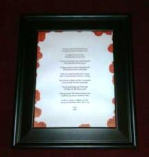 Custom Poetry Gift black frame