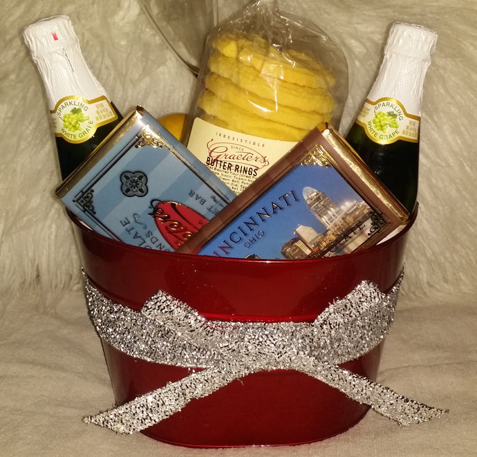 Graeter's Holiday Chocolate & Champagne Gift Basket!