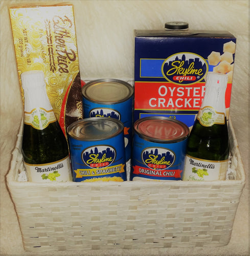 Sparkling Bubbly Skyline Chili Gift Basket!