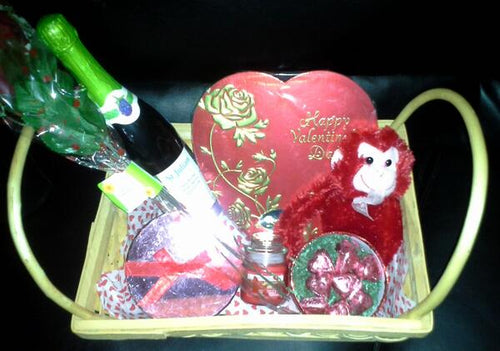 Valentine's Day Stuffed Animal Gift Basket!!