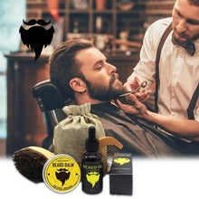 Load image into Gallery viewer, daise®  4 Pcs Beard Oil and Balm/Beard Brush Beard Comb Kit for Men Grooming Styling & Shaping Smoothing Gentlemen Beard Care