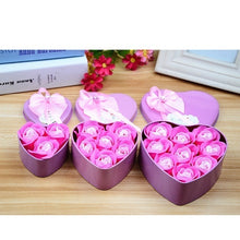 Load image into Gallery viewer, Heart Scented Bath Body Petal Rose Flower Soap Wedding invitations heart shape Decoration Gift for guests U3AHXL2451/e7