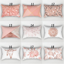 Load image into Gallery viewer, Rose Gold Pink Cushion Cover Square Pillowcase Home Decoration(30cm * 50cm)