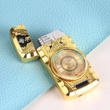 Load image into Gallery viewer, Creative Metal Inflatable Lighter No Gas Straight-punch Watch Cigarette Lighter Refillable Butane