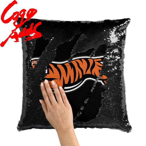 Cincinnati Bengals decorative throw pillows reversible mermaid sequin pillow case cover