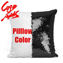 Load image into Gallery viewer, Cincinnati Bengals decorative throw pillows reversible mermaid sequin pillow case cover
