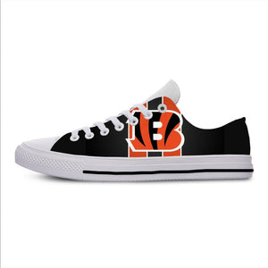 Bengals Lightweight Fashion Men/Women Casual Shoes Breathable Flat Canvs Sneakers
