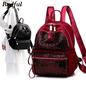 GLITTER BACKPACK, women's backpack with sequins