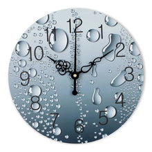 Load image into Gallery viewer, designer wall clock with rain drops, modern home decoration