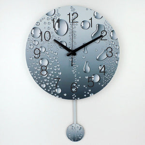 designer wall clock with rain drops, modern home decoration