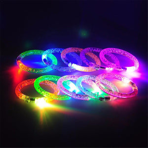 GLOWING BRACELETS Led Dance Bangle Cartoon Watch Boys Girls Flash Wrist Band Light Bracelets