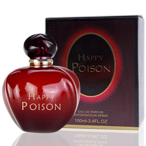 HAPPY POISON Women Perfume, Long-lasting Parfum Atomizer Fashion Lady Flower Bottle Fresh Light Fragrance Parfum 100ML