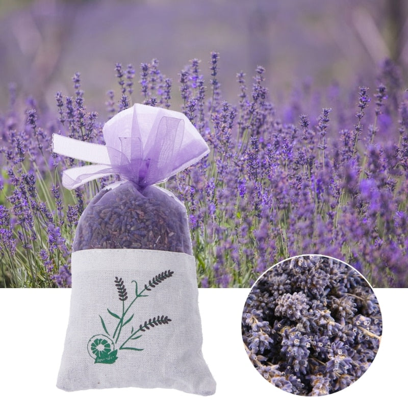 Natural Lavender Bud Dried Flower Sachet Bag Aromatherapy Aromatic Air Refresh Home Decor