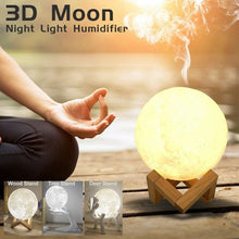 Load image into Gallery viewer, MOON SHAPED Air Humidifier Aroma ESSENTIAL OIL AROMA DIFFUSER For Home,   Moon Light USB Aromatherapy Diffuser 880ml