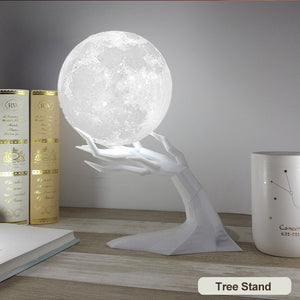 MOON SHAPED Air Humidifier Aroma ESSENTIAL OIL AROMA DIFFUSER For Home,   Moon Light USB Aromatherapy Diffuser 880ml