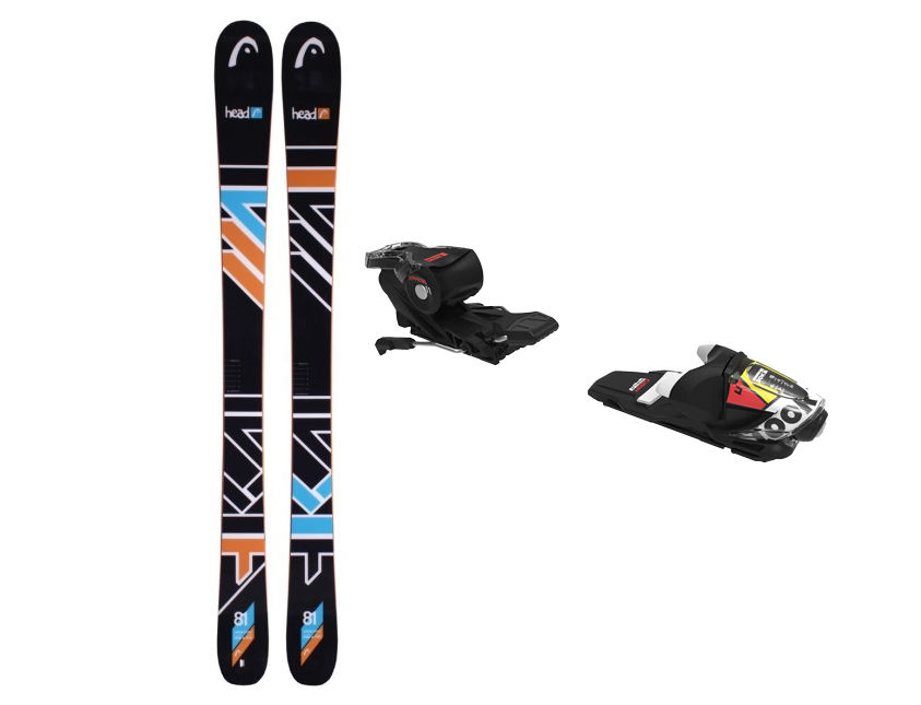 NEW HEAD The Jr Caddy SW 161 cm Ski + NEW Look Xpress 11 Bindings Park Freestyle