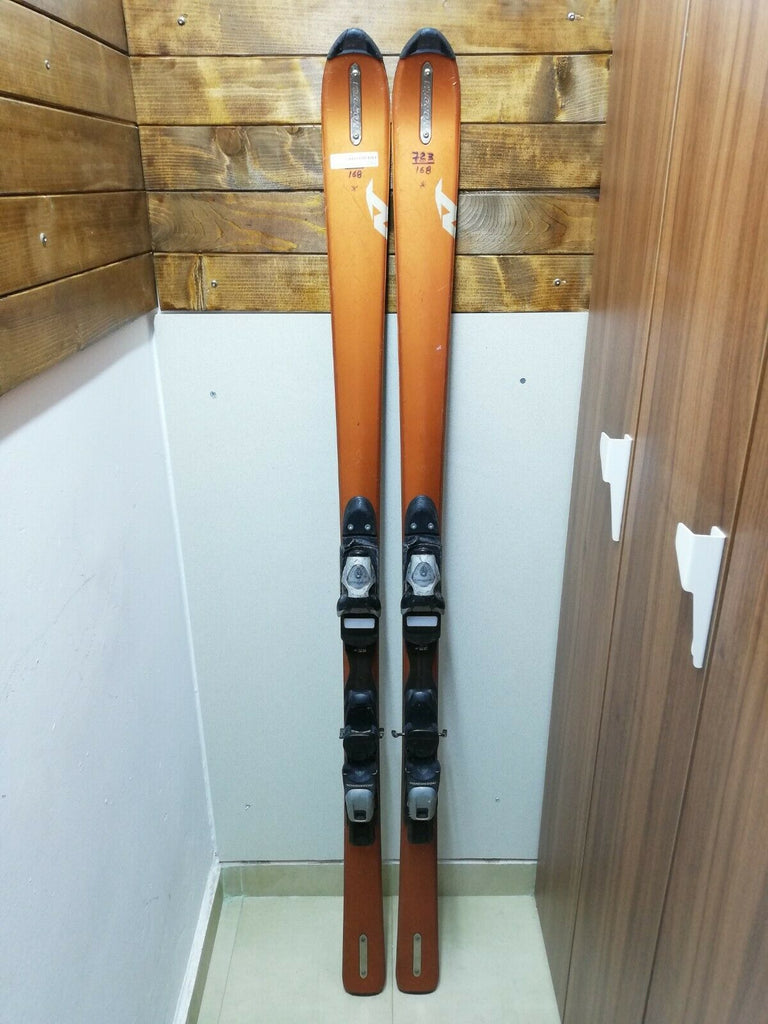 Nordica T RTL 168 cm Ski + Rossignol FDX 100 Bindings Winter Snow Sport Outdoor