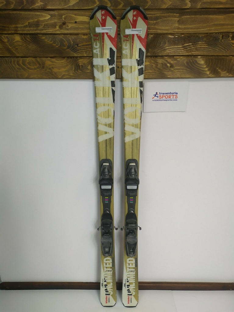 Völkl Unlimited AC 7.4 163 cm Ski + Rossignol 9.5 Bindings Winter Fun Outdoors