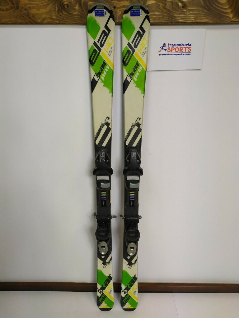 2017 Elan Exar Pro 140 cm Ski + Elan SP 7.5 Bindings Sport Snow Winter Fun