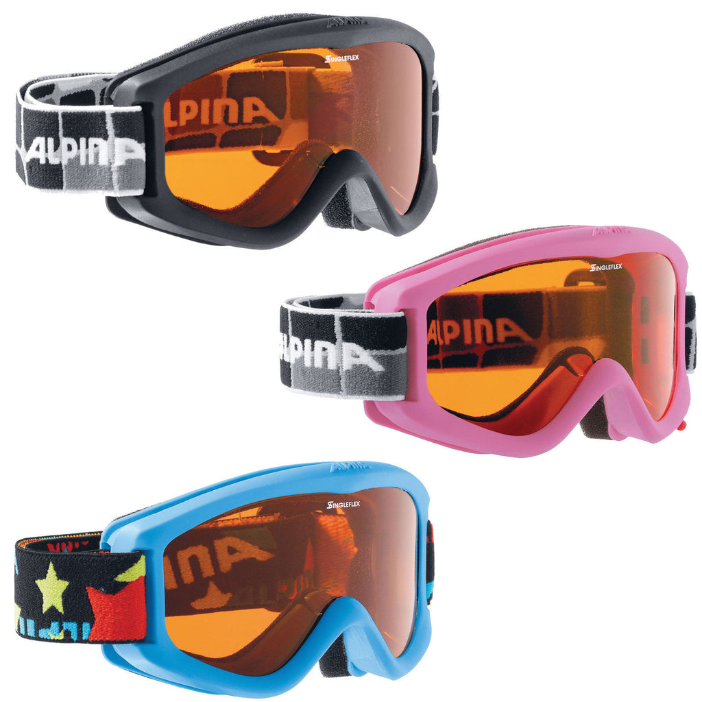 Alpina Carvy 2.0 Kids Ski Goggles Black Pink Blue
