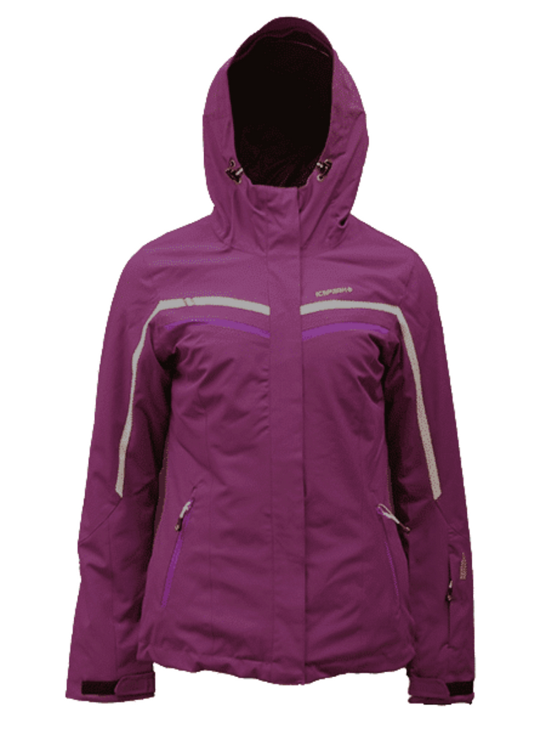 Icepeak Nellis Purple Ladies Ski Jacket Warm Winter Snow Snowboard Waterproof Breathable Comfortable Protective Practical