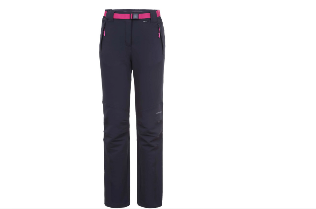 icepeak trousers antracite with pink belt