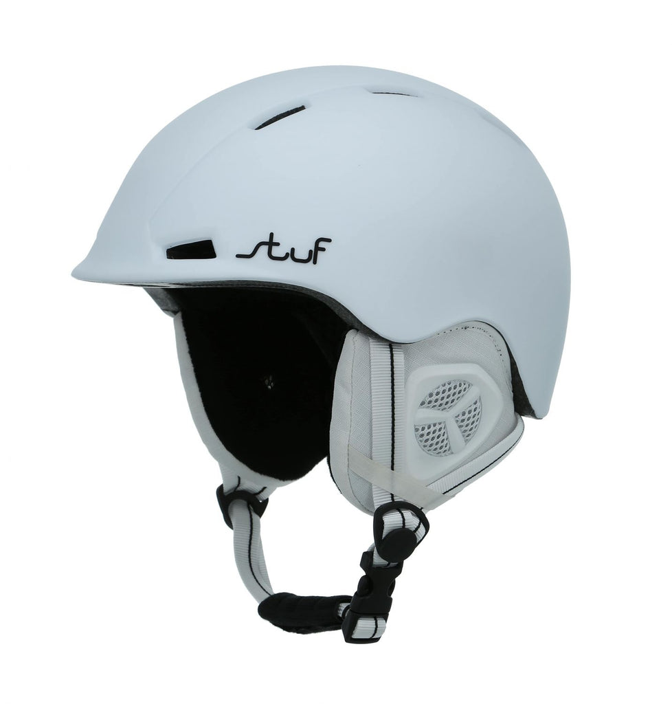 Stuf Ski Snowboard Helmet Adjustable Warm Soft white