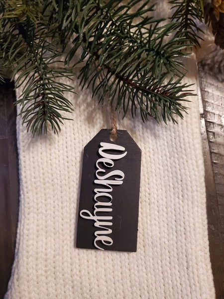 Personalized Holiday Name Tags