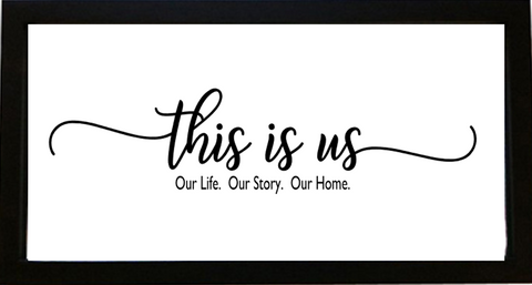 This Is Us Frame in Vinyl