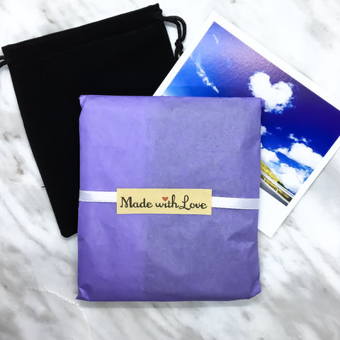 Miss Fit Boutique Gift Wrapping with Black Velvet Bag