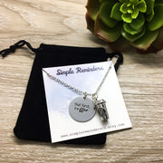 Coffee Lover Gifts, But First Coffee Charm Necklace with Card, Silver Coffee Cup - Miss Fit Boutique | Simple Reminders