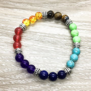 Multi-Colored Chakra Beaded Bracelet